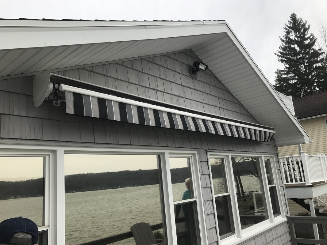 Custom Built Commercial Awnings Can Spice Up Your Storefront Or Restaurant.  We Design These Units To Your Specifications. The Framework Is 1/8 Inch  Aluminum ...